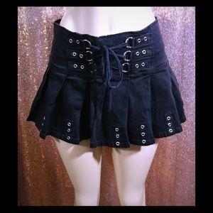 Hot Topic Royal Bones black corset style skirt MED